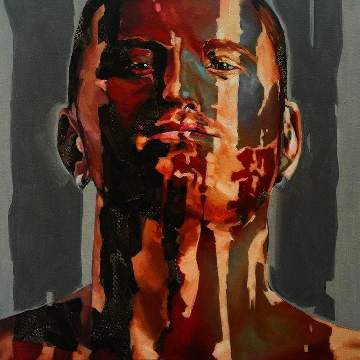 Dissolved boy 2015 by Corne Eksteen, Oil on canvas 600 x 600 mm