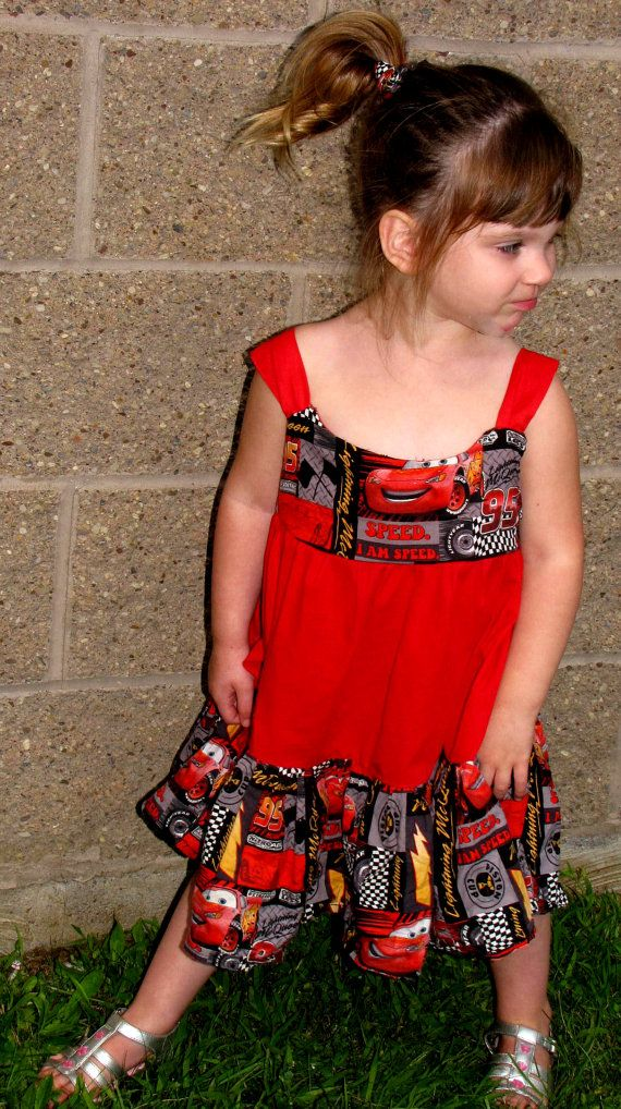 Lightning McQueen Dress by myfunclothes on Etsy, $24.00