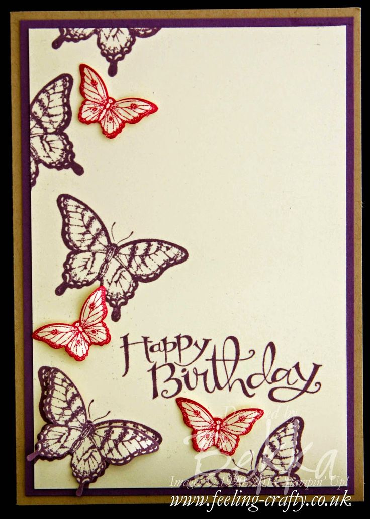 Birthday Card with Papillon Potpourri and Sassy Salutations from Stampin' Up! UK - get the details here