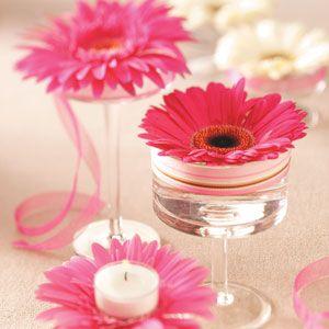 pink gerbera daisy centerpieces