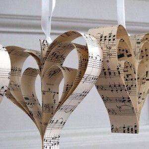 Vintage Paper Heart Decoration