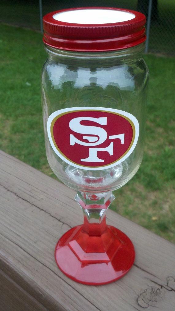 San Francisco #49ers Logo Redneck Wine Glass.  I love it!