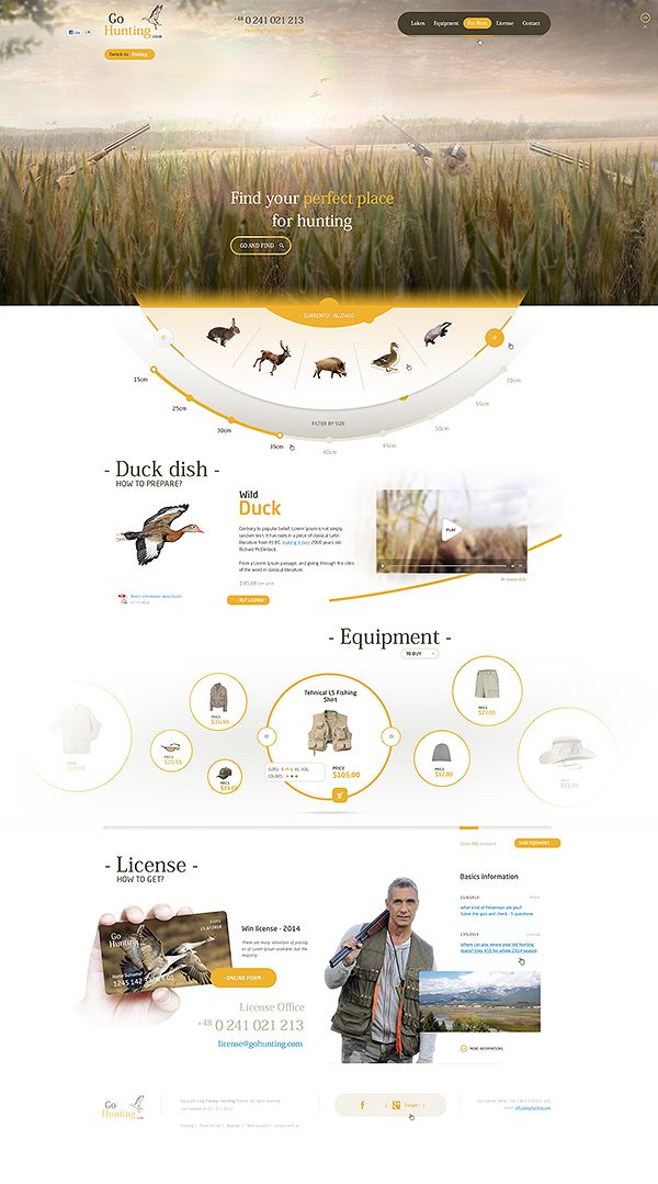 GoFishing / GoHunting by Mateusz Parfian, via Behance