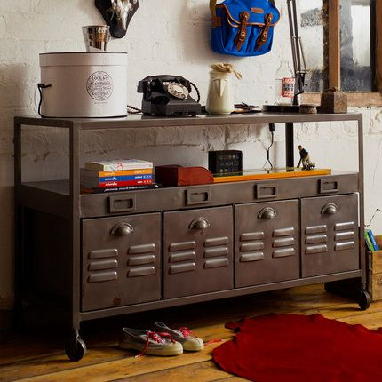 Industrial Cabinet For Steampunk Office