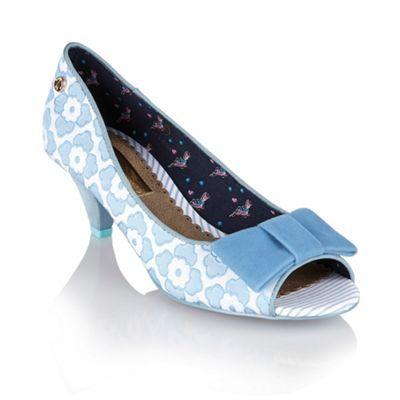 Babycham Pale blue 'Uma Lace' peep-toe court shoes- at Debenhams.com