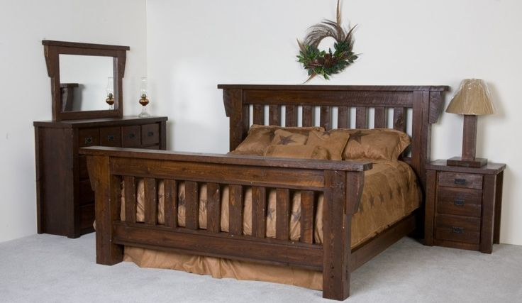 Modern Rustic Bed Frame Ideas: Amazing Rustic Bed Frame Natural Wooden Style Brown Bed Cover ~ ozvip.com Bedroom Designs Inspiration
