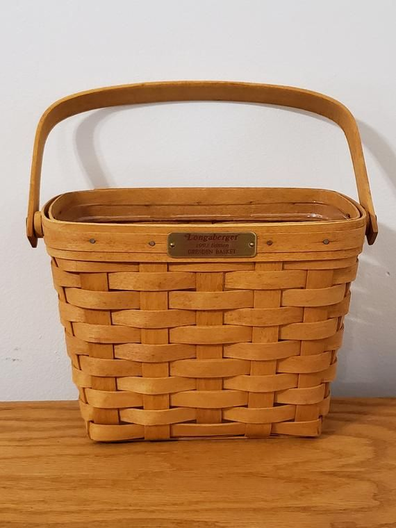 Longaberger Small Gathering Basket Plaid Tidings OE Liner Christmas Liner