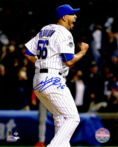 Hector Rondon Signed Chicago Cubs 2015 Playoffs Fist Pump Close Up 8x10 Photo