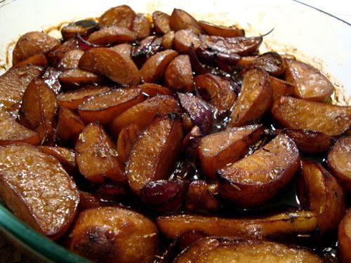 balsamico-stegte kartofler