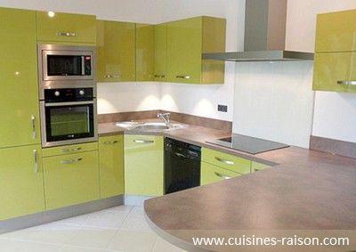cuisine aspect façade brillant design moderne
