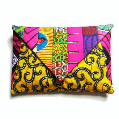 cases - Wax print clutch purse/ipad case