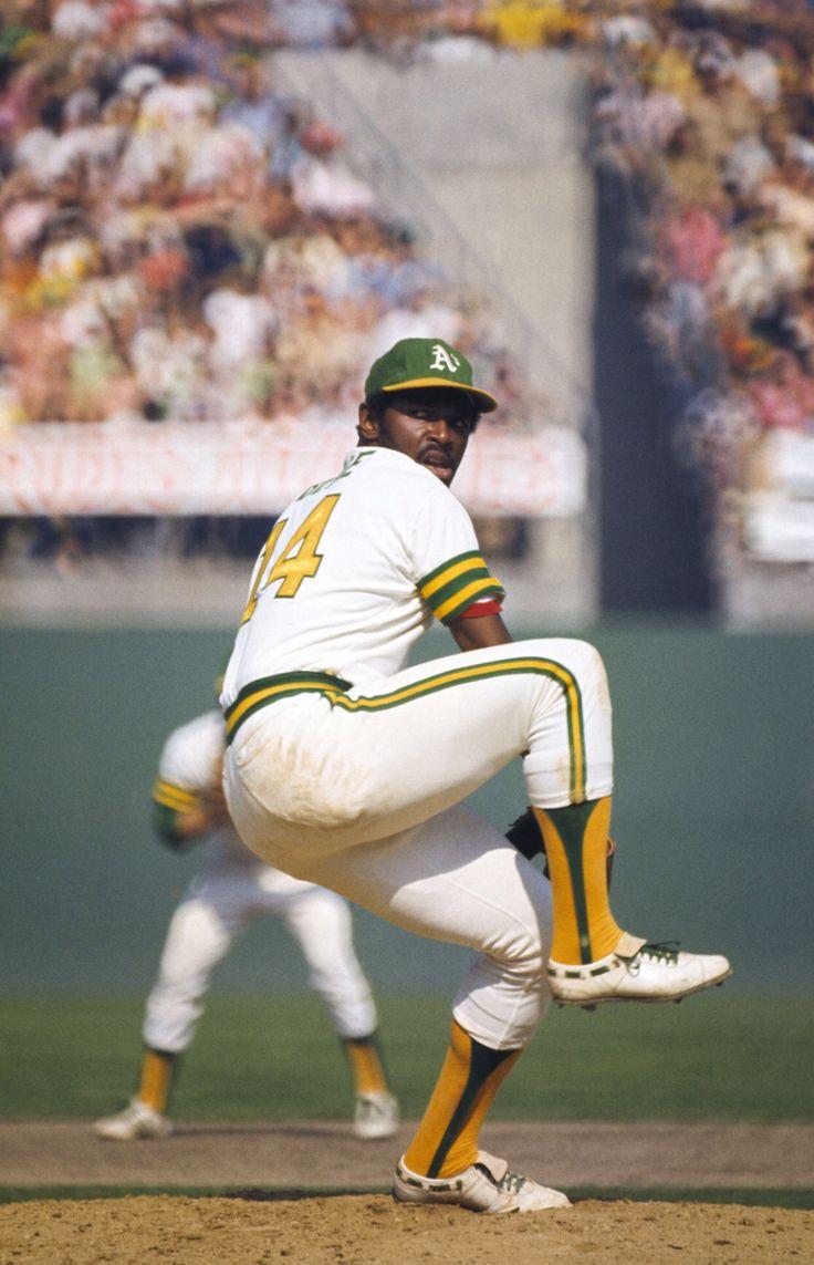 Vida Blue - 1973 World Series. Blue era uno de los más temibles lanzadores del equipo Oakland.