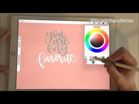 PROCREATE TUTORIAL WITH APPLE PENCIL & IPAD PRO FOR HANDLETTERING - PT. 3 (LAYERS & MAKING CHANGES) - YouTube