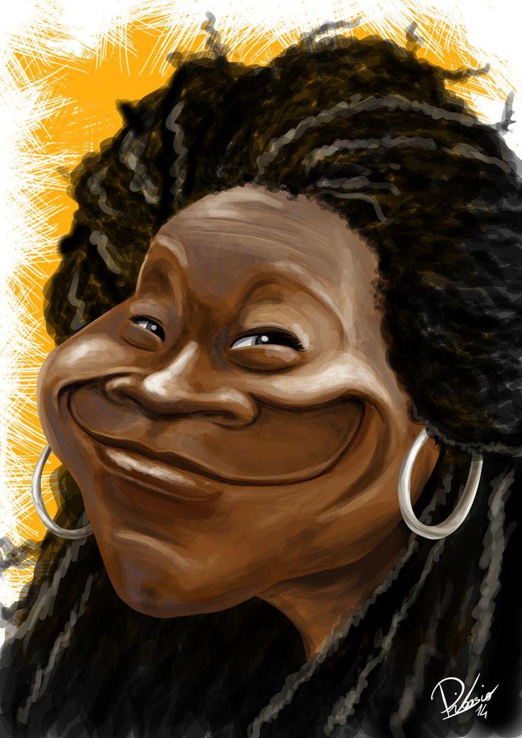 Whoopi Goldberg - caricature by Ribosio gallery --> http ...