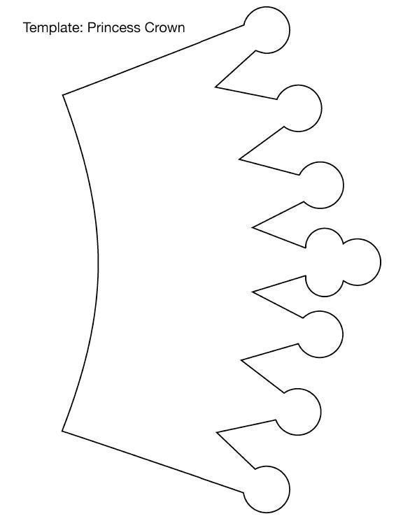 Molde de corona de princesa en foamy - Imagui