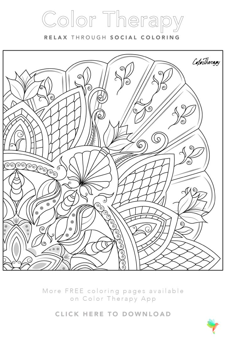 #Free coloring page created by #ColorTherapyApp. Print the ...