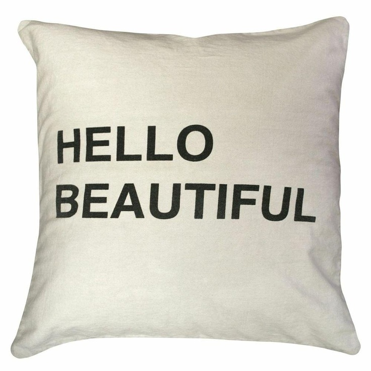 Hello Beautiful Pillow,Hello Beautiful Pillow, Sugarboo, Classy, Pillow