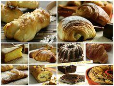 Brioches e torte per la colazione, raccolta