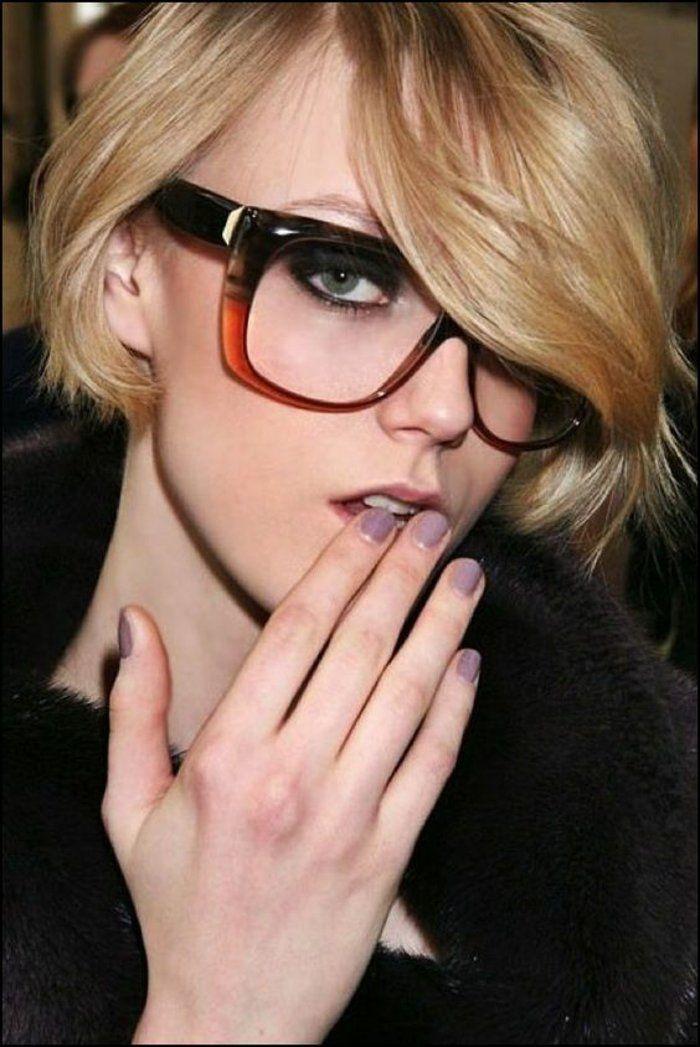 monture lunette femme en noir et marron aux nuances subtilement gradées