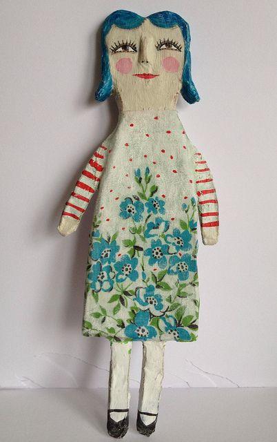 paper mache cutie - giveaway on my blog by HeartsandNeedles, via Flickr