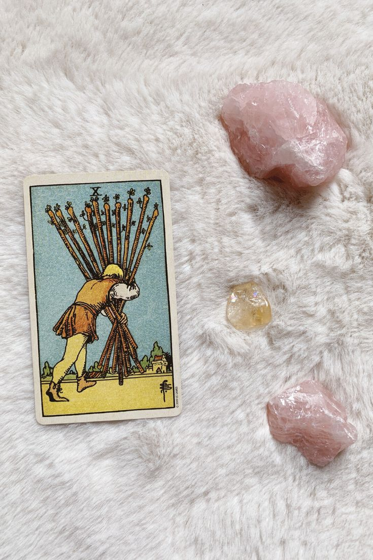 Future tarot meanings ten of wands lisa boswell in 2020