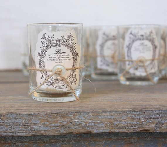 Candle winter wedding favours ideas