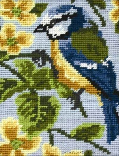 Blue Tit - Beginners Needlepoint Tapestry Kit by Anchor