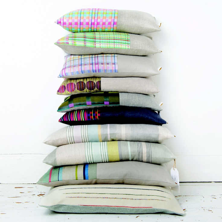 Woven cushions by Laura Fletcher Textiles