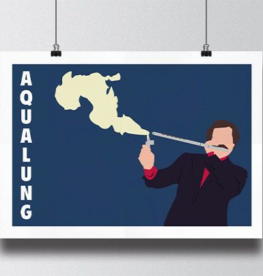 Anchorman movie poster print - Jazz Flute by Meet Me In Shermer
