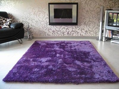 purple rug, it looks so fluffy!