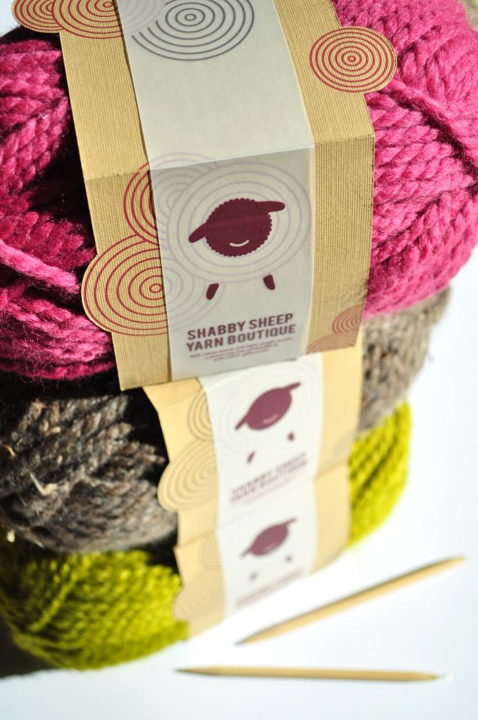 Such great yarn packaging. Love the use of pattern and its incorporation into the logo.