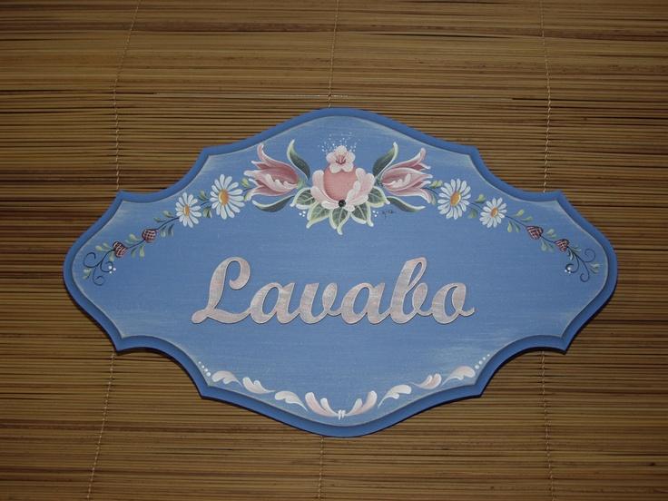 Placa para porta em Bauernmalerei