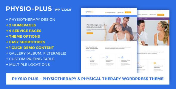 Physio Plus - Physiotherapy & Physical Therapy WordPress Theme