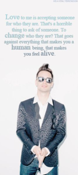 Brendon Urie quote