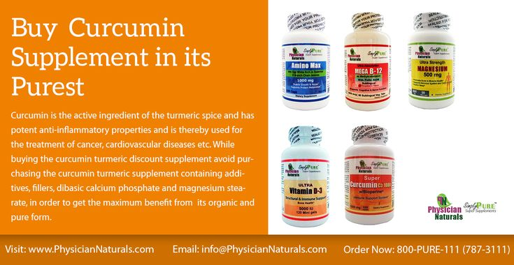 While buying the curcumin turmeric discount supplement avoid purchasing the curcumin turmeric supplement containing additives, fillers, dibasic calcium phosphate and magnesium stearate, in order to get the maximum benefit from  its organic and pure form.