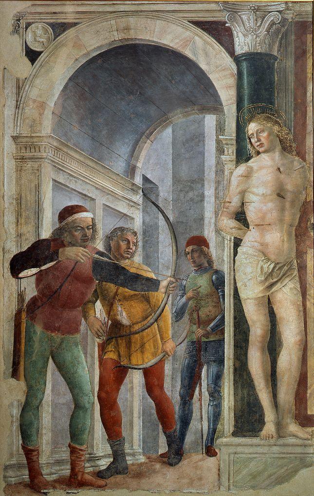 Pinacoteca di Brera, Vincenzo Foppa, Madonna del tappeto, affresco, 1485