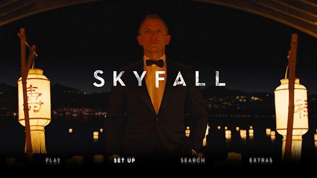 Skyfall Blu-ray  main menu