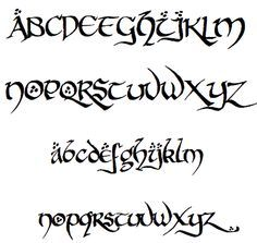 lord of the rings font alphabet - Cerca con Google