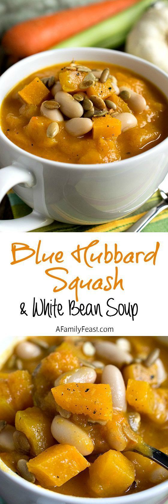 Blue Hubbard Squash and White Bean Soup - Perfect cold-weather comfort food. This soup is delicious!
