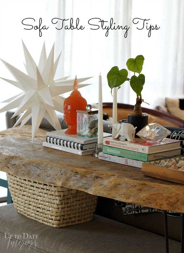 Sofa Table Styling and Blog Hop All the tips you need for decorating any flat surface in your house!!  - Up to Date Interiors