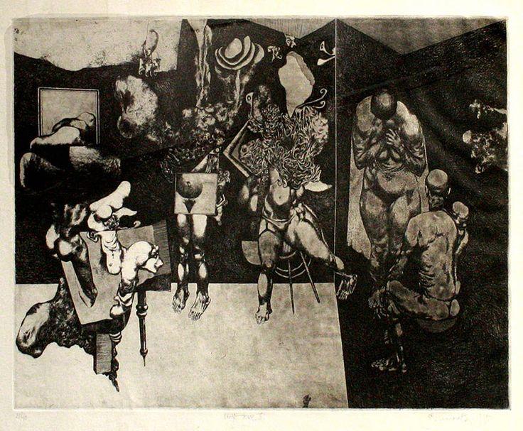 STRIPTEASE II, 32x48 cm, lept / etching