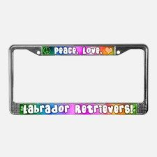 Hippie Labrador Retriever License Plate Frame for