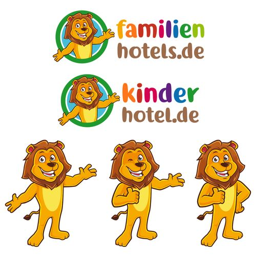 Familienhotels.de - Logo for our hotel portal / Logo f¨¹r unser Hotelportal Our new website is in creation (please see attachment) and we need a nice logo and a mascot, similar to our lion. The lo