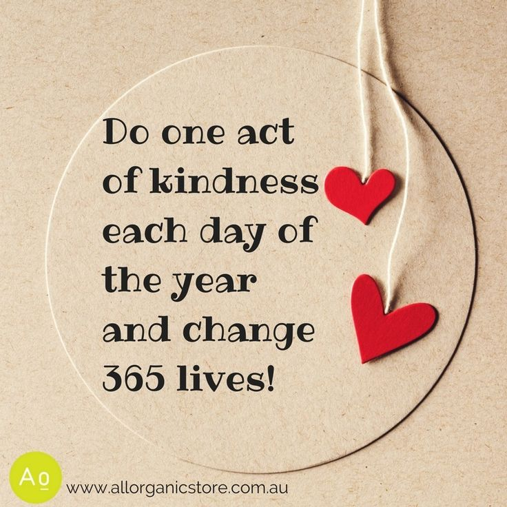 Let's make a difference this year! What are some acts of kindness you can do?
