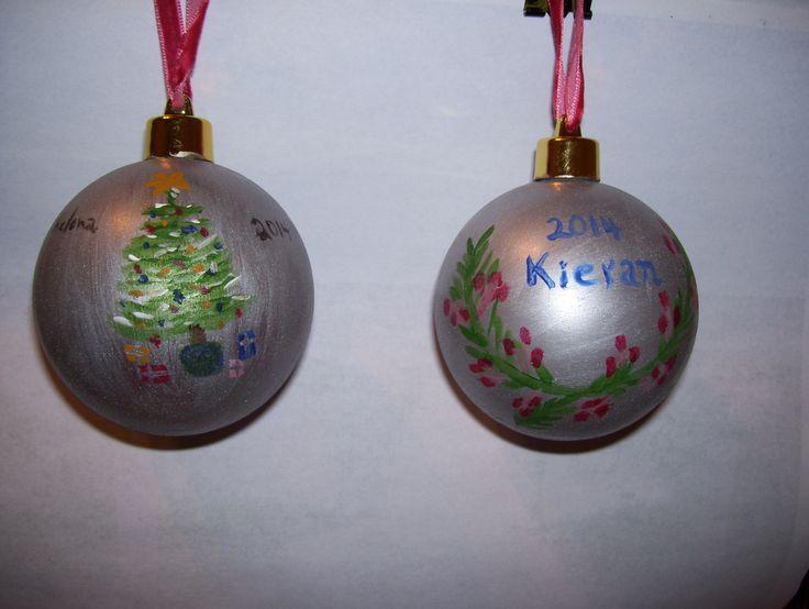The backs of the Christmas balls, Nov 2014