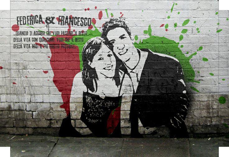 Ed ecco un'altra illustrazione Pop Art Banksy di una coppia con tanto di dedica!
