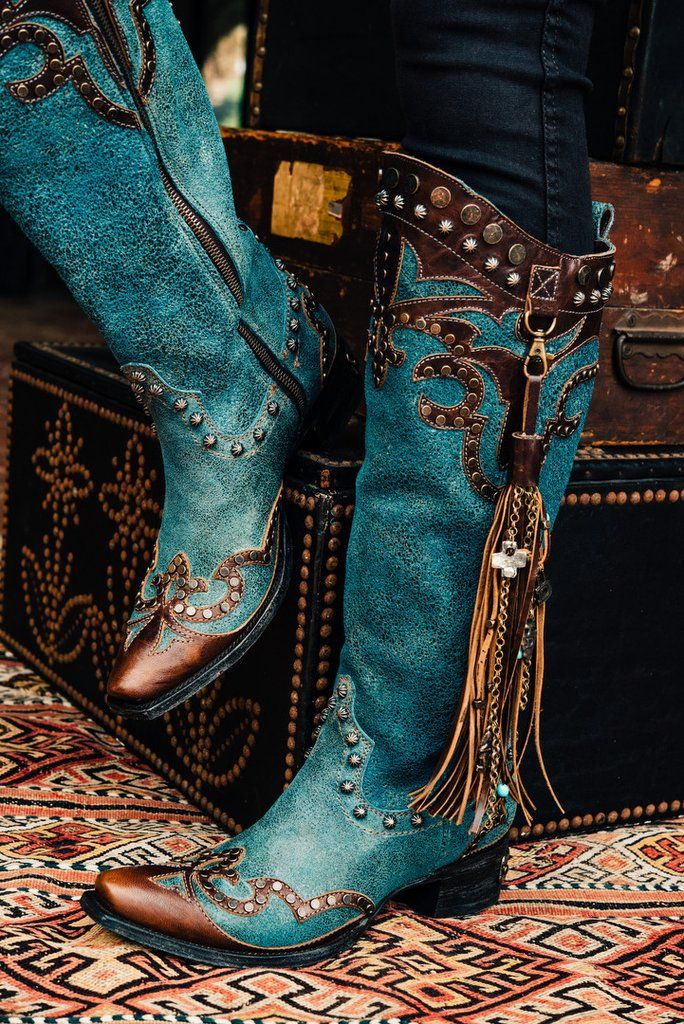 Ybarra Boot in denim by Double D Ranch