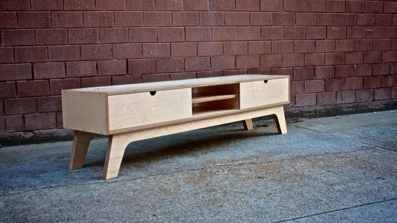 A retro Entertainment Unit Made from Russian Birch Plywood, All the plywood joins are exposed and used plywood end grain