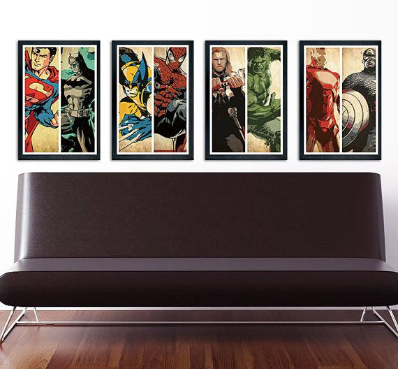 17 best images about big boy bedroom avengers on pinterest captain america comic books iron - Comic themed bedroom ...