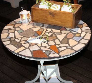 Mosaic table for your guest book area